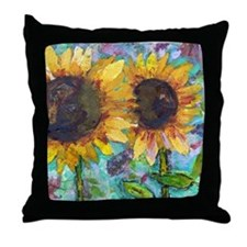 Sunflower Friends Throw Pillow