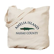 Amelia Island - Alligator Design. Tote Bag