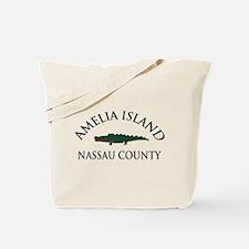 Amelia Island - Alligator Design. Tote Bag