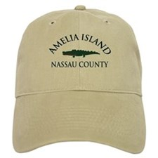 Amelia Island - Alligator Design. Baseball Cap
