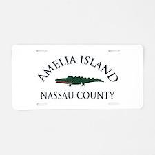 Amelia Island - Alligator Design. Aluminum License