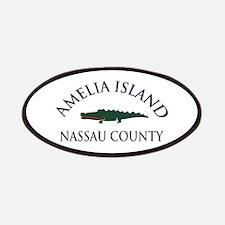 Amelia Island - Alligator Design. Patches