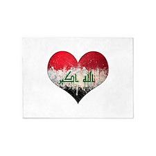 Iraqi heart 5'x7'Area Rug