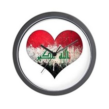 Iraqi heart Wall Clock