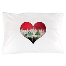 Iraqi heart Pillow Case