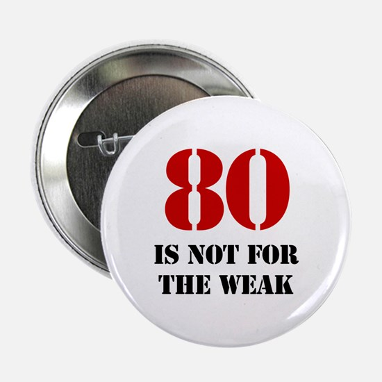 "80th Birthday Gag Gift 2.25"" Button"