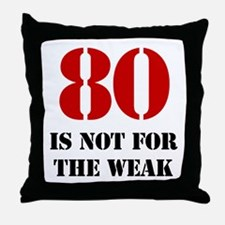 80th Birthday Gag Gift Throw Pillow