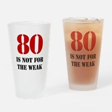 80th Birthday Gag Gift Drinking Glass
