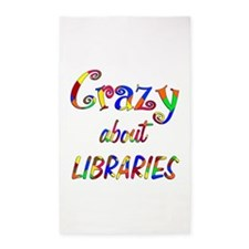 Crazy About Libraries 3'x5' Area Rug