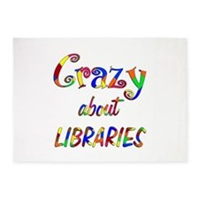 Crazy About Libraries 5'x7'Area Rug