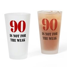 90th Birthday Gag Gift Drinking Glass