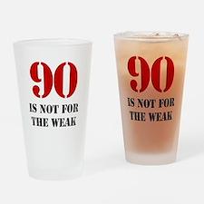 90th Birthday Gag Gift Drinking Glass