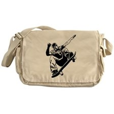 Skateboarder Jump Messenger Bag