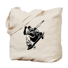 Skateboarder Jump Tote Bag