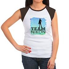 team Nikon watercolor.png Women's Cap Sleeve T-Shi