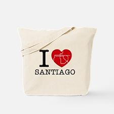 I LOVE (heart) SANTIAGO - metro Tote Bag
