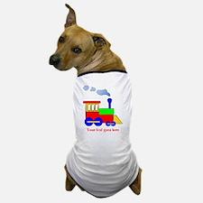 Personalize Choo Choo Train Engine Dog T-Shirt