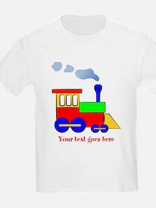 Personalize Choo Choo Train Engine T-Shirt
