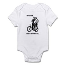 Mormons:This Is How We Roll Infant Bodysuit