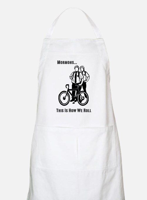 Mormons:This Is How We Roll BBQ Apron