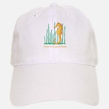 Personalized Orange Seahorse Baseball Baseball Cap