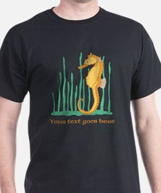 Personalized Orange Seahorse T-Shirt