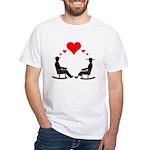 Hearts Rock White T-Shirt