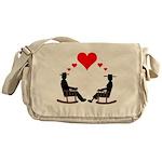 Hearts Rock Messenger Bag
