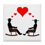 Hearts Rock Tile Coaster