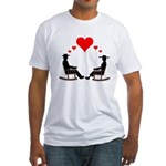 Hearts Rock Fitted T-Shirt