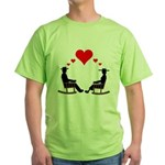 Hearts Rock Green T-Shirt