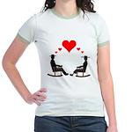 Hearts Rock Jr. Ringer T-Shirt