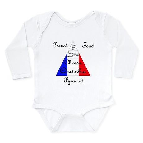 French Food Pyramid Long Sleeve Infant Bodysuit