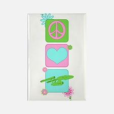 Peace Love NCC-1701 Rectangle Magnet