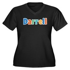 Darrell Spring11B Women's Plus Size V-Neck Dark T-