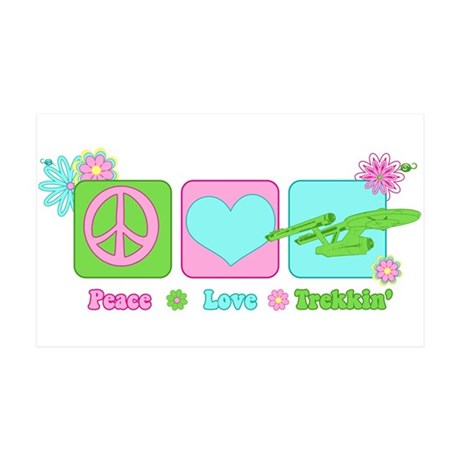 Peace Love NCC-1701 35x21 Wall Decal