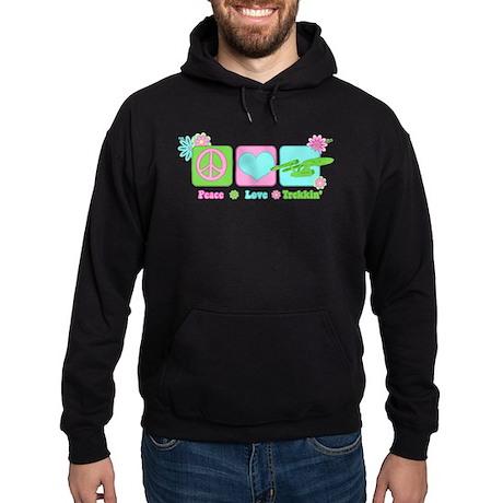 Peace Love NCC-1701 Hoodie (dark)