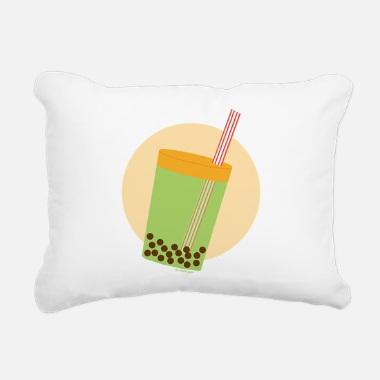 Boba Tea Moon Rectangular Canvas Pillow
