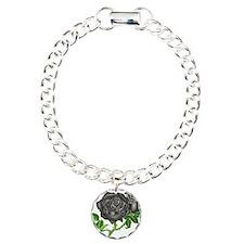 Black Velvet Charm Bracelet, One Charm
