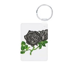 Black Velvet Aluminum Photo Keychain