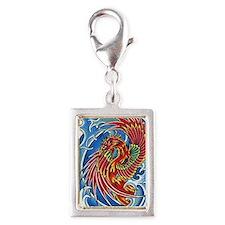 Phoenix Arisen Silver Portrait Charm