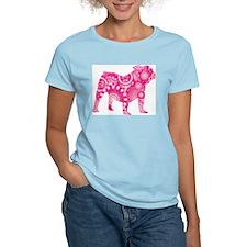 Old English Bulldog Women's Pink T-Shirt
