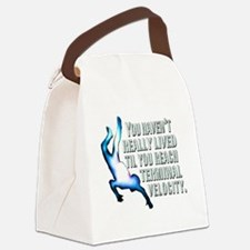 Cute Skydiving Canvas Lunch Bag