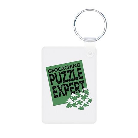 Geocaching Puzzle Expert Aluminum Photo Keychain