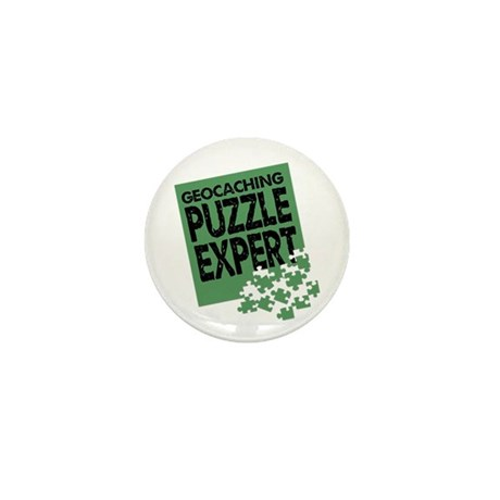 Geocaching Puzzle Expert Mini Button (10 pack)