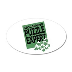 Geocaching Puzzle Expert Wall Decal
