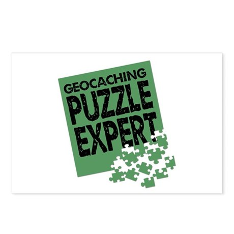 Geocaching Puzzle Expert Postcards (Package of 8)