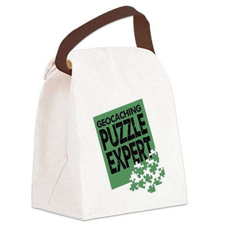 Geocaching Puzzle Expert Canvas Lunch Bag