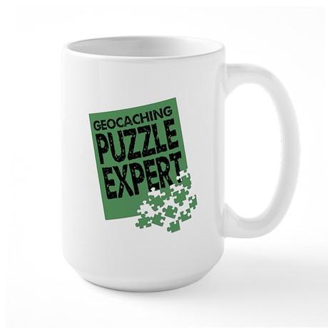 Geocaching Puzzle Expert Large Mug