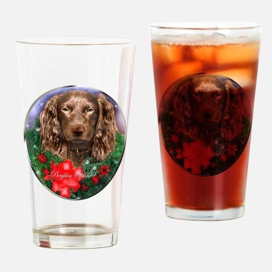 Boykin Spaniel Christmas Drinking Glass